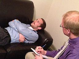 Patient with psychotherapist